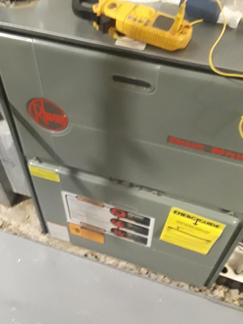 Northborough, MA - Clean and check Rheem gas boiler