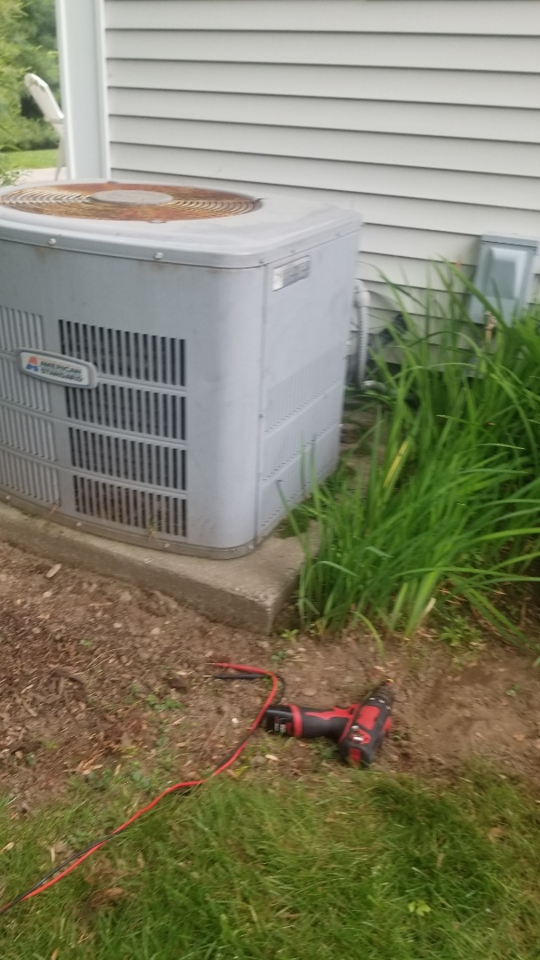 Webster, MA - Service on an American standard air conditioning system