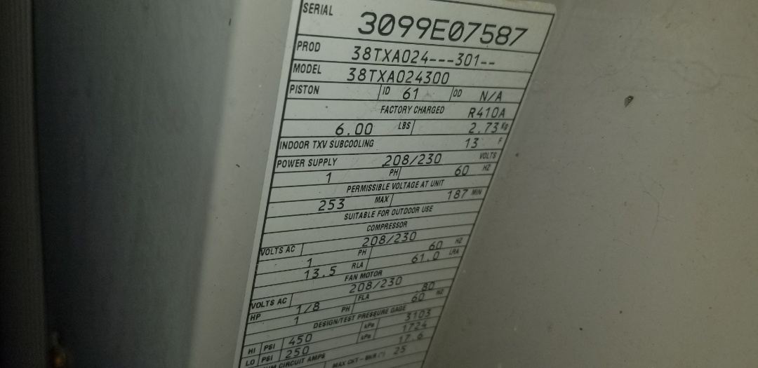 Webster, MA - Service on a bryant air conditioning system