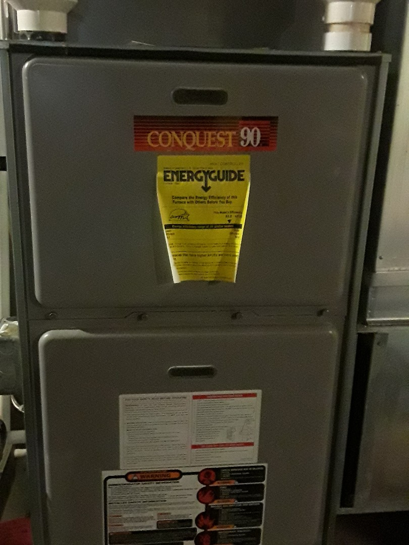 Clean and check Comfort Aire gas heating Unit