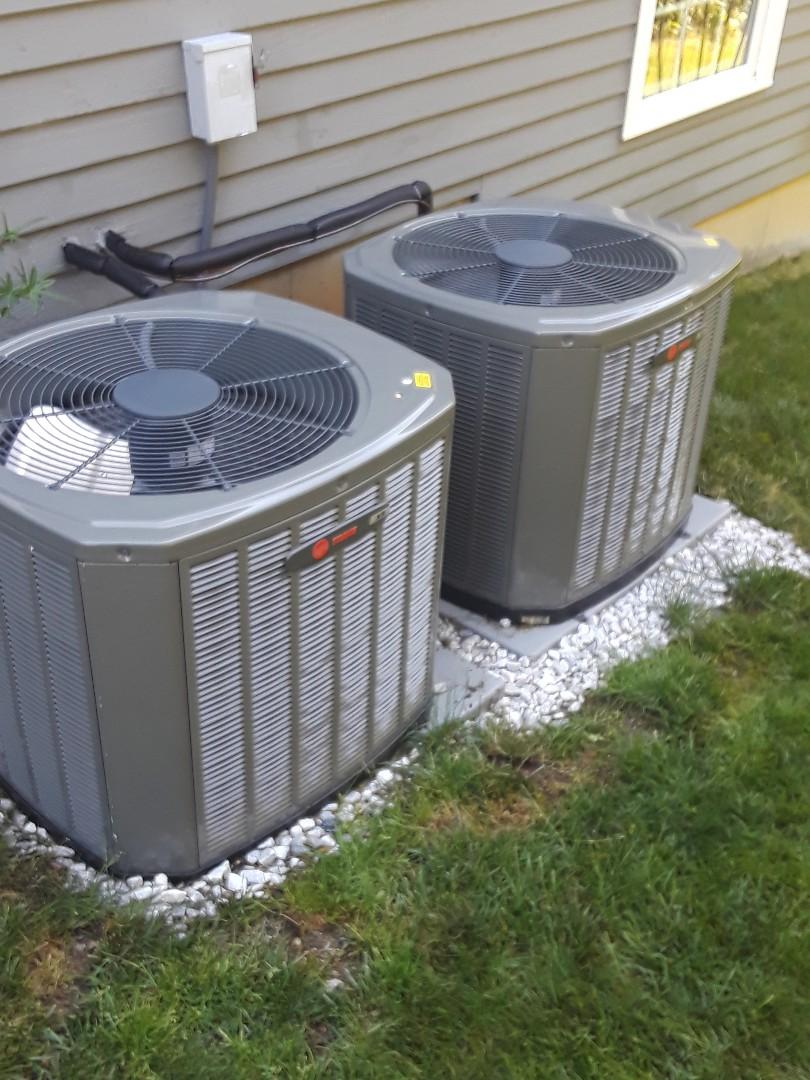 Northborough, MA - Clean and check Trane AC units