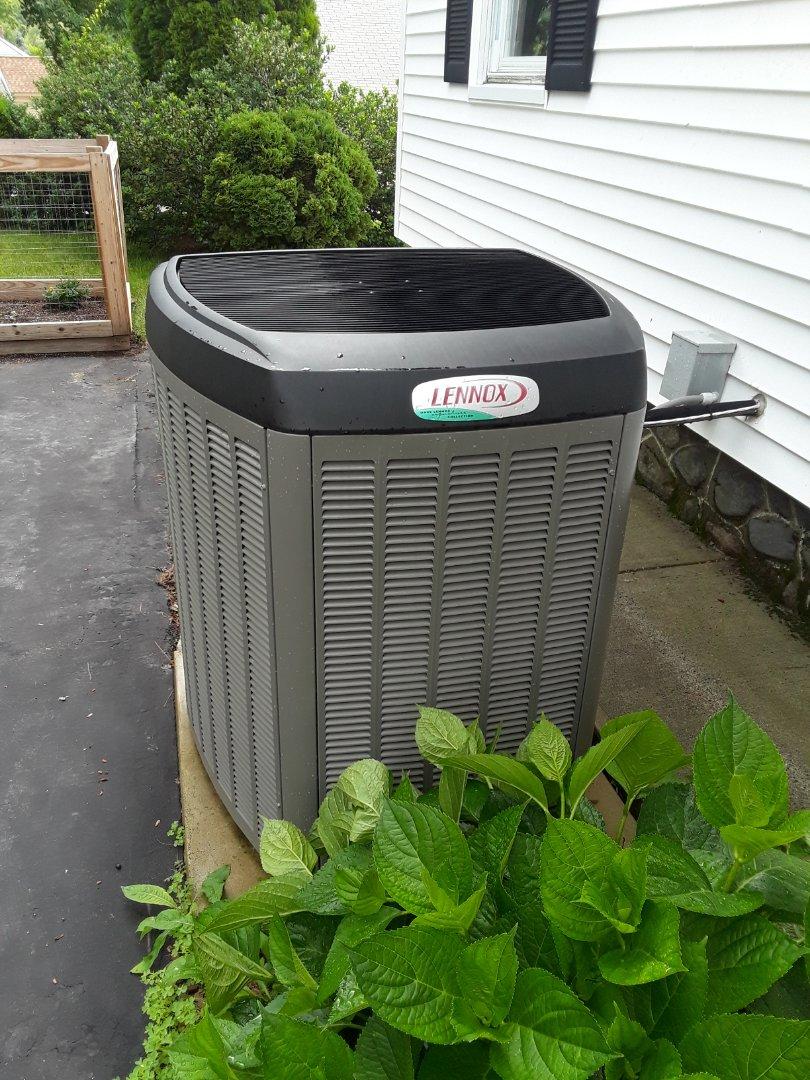 Fitchburg, MA - Clean and check Lennox AC unit