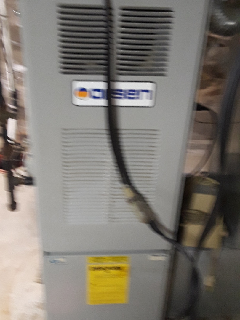 Fitchburg, MA - Clean and check Olsen gas furnace