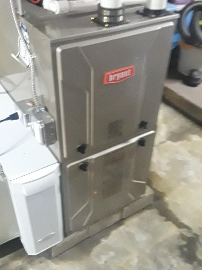 Shrewsbury, MA - Clean and check Bryant gas furnace