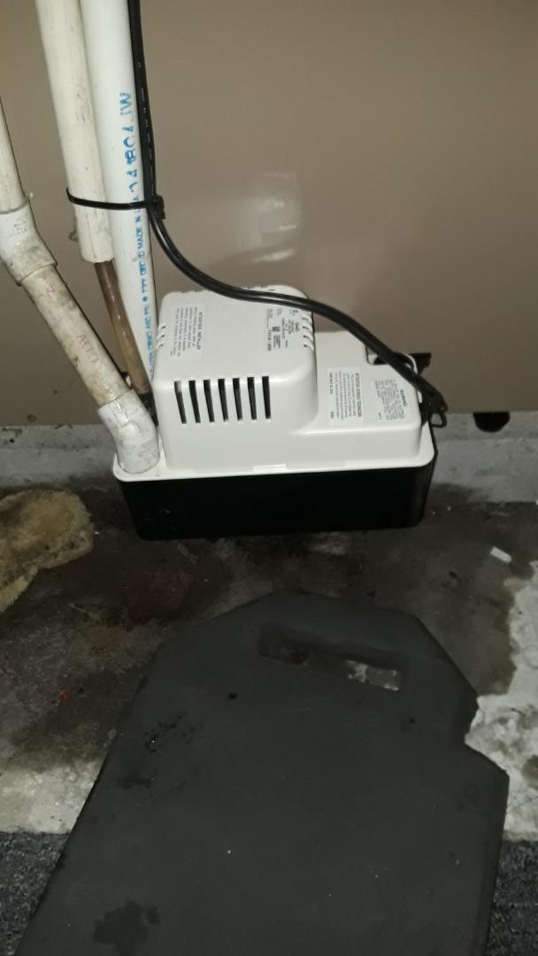 Fitchburg, MA - Condensate pump replacement