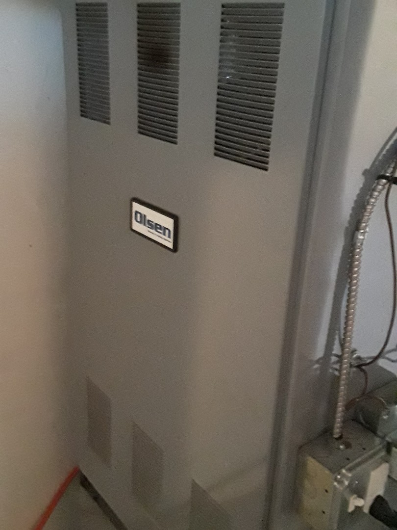 West Boylston, MA - Clean and check Olsen oil heating unit