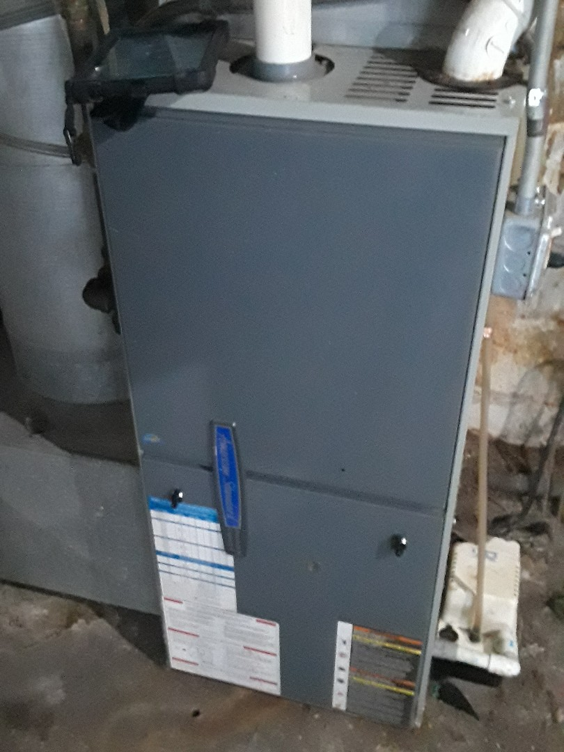 Hudson, MA - Clean and check American Standard gas heating unit