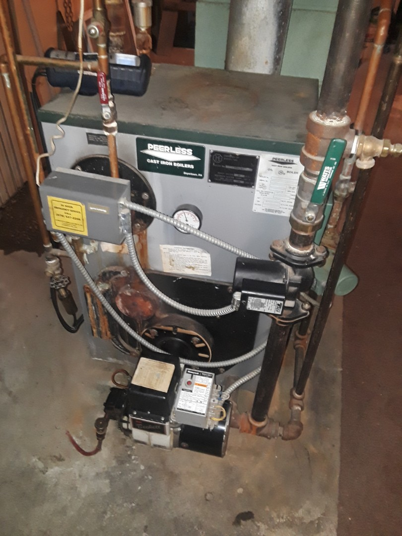 Leominster, MA - Clean and check Peerless oil heating unit