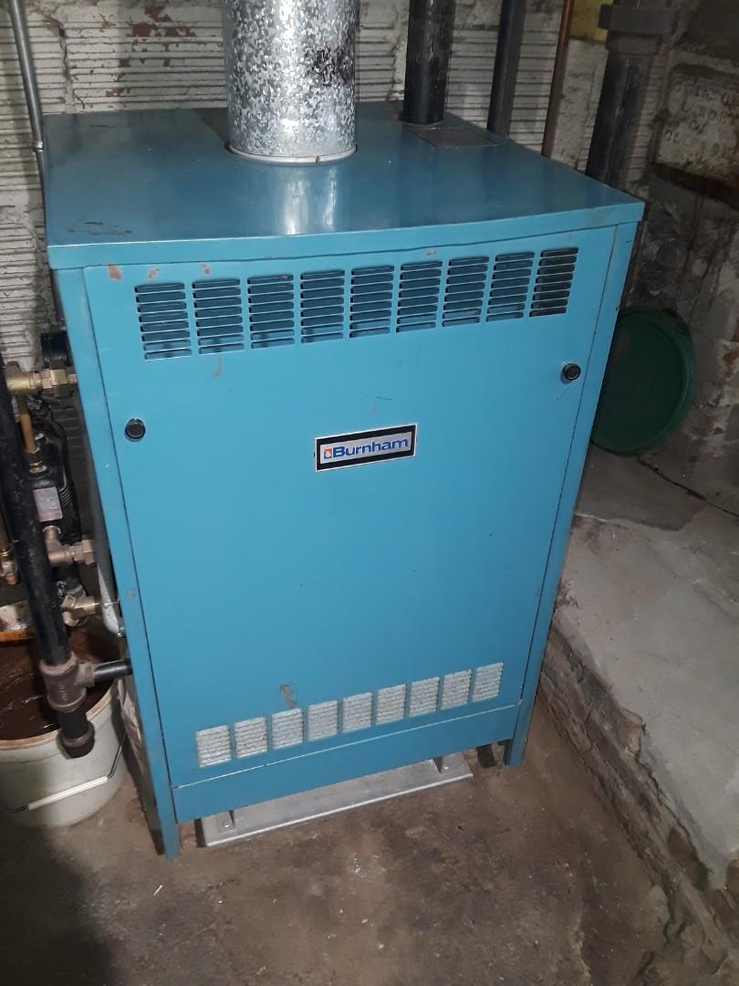 Leominster, MA - Clean and check Burnham gas boiler