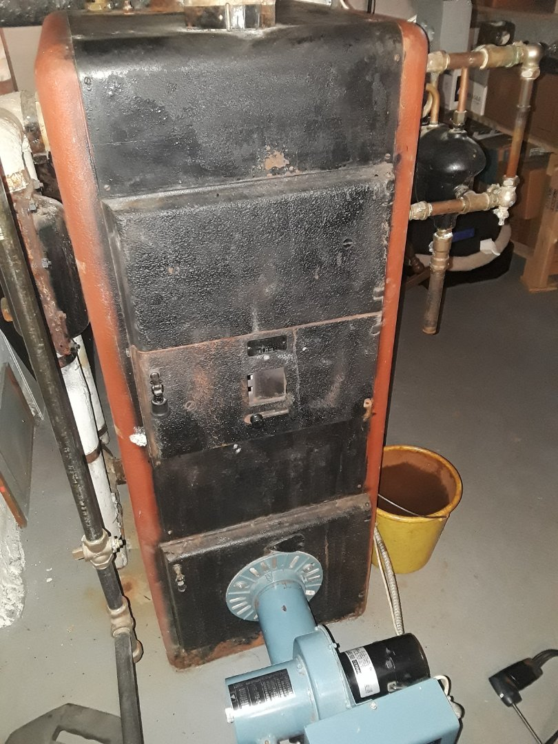 Leominster, MA - Clean and check National Co. Gas steam boiler