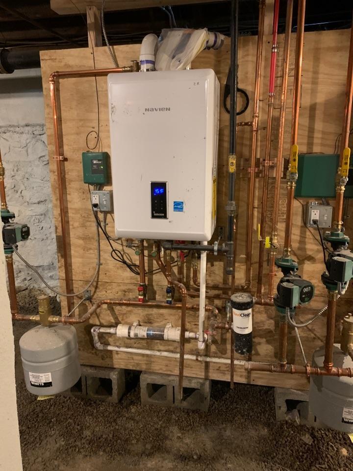 Spencer, MA - Performed preventative maintenance procedures on navien nat gas boiler