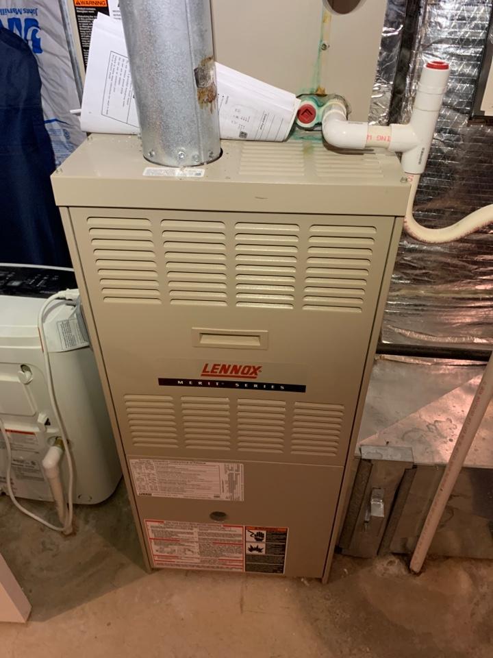 Northbridge, MA - Performed preventative maintenance procedures on Lennox nat gas furnace