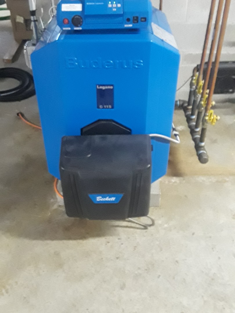Sterling, MA - Clean and check Buderus oil boiler