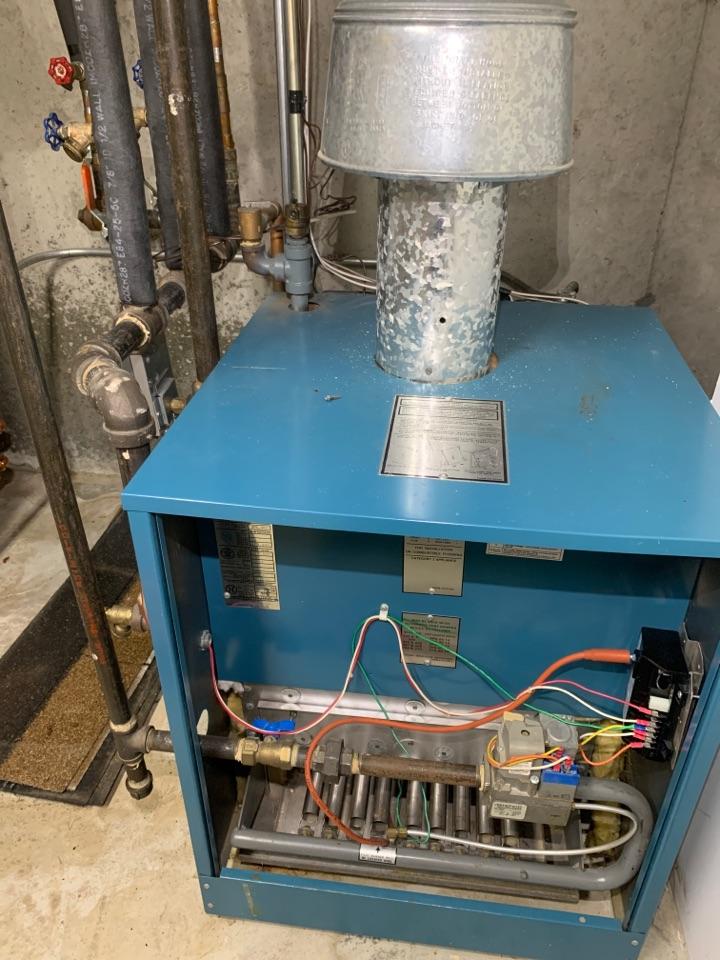 Westborough, MA - Performed preventative maintenance procedures on burnham nat gas boiler