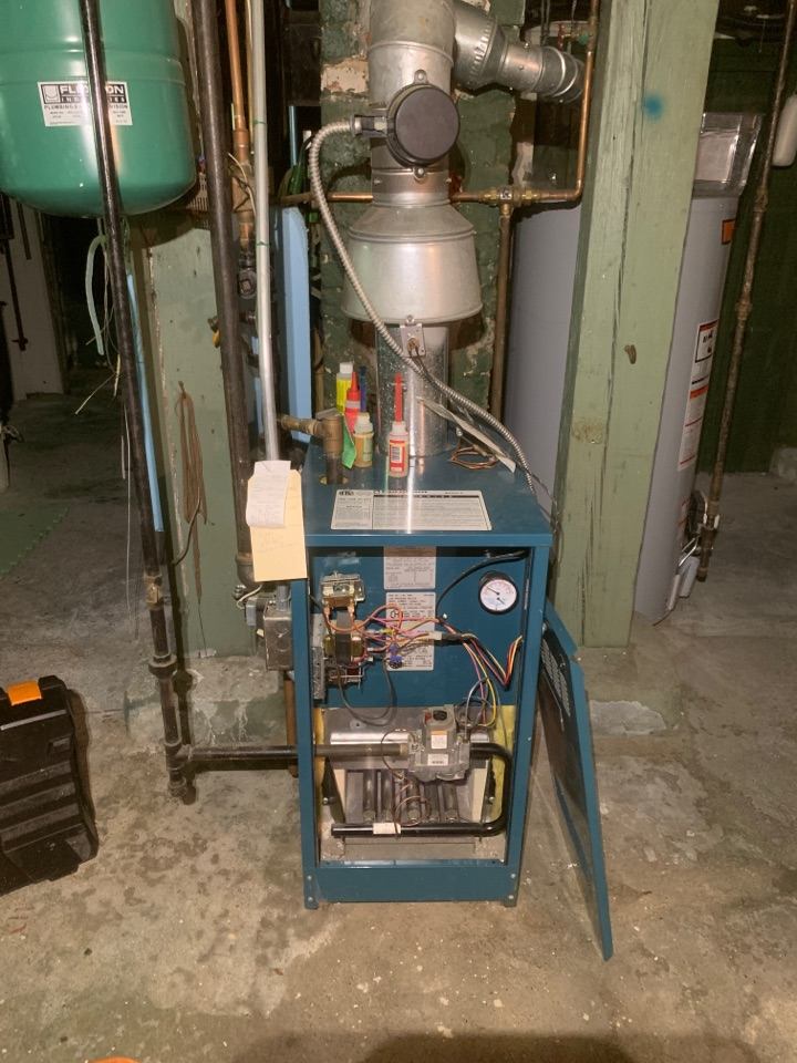 Marlborough, MA - Performed preventative maintenance procedures on burnham nat gas boiler