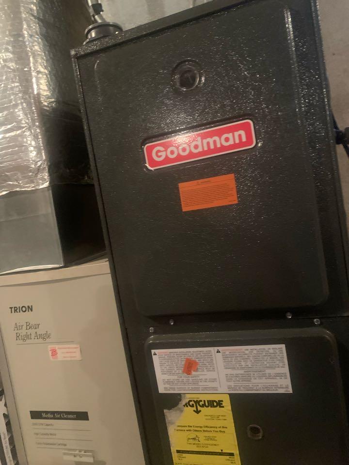 West Boylston, MA - Preventative maintenance on a Goodman furnace