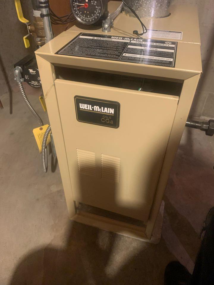 West Boylston, MA - Service on a Weil McLain gas boiler