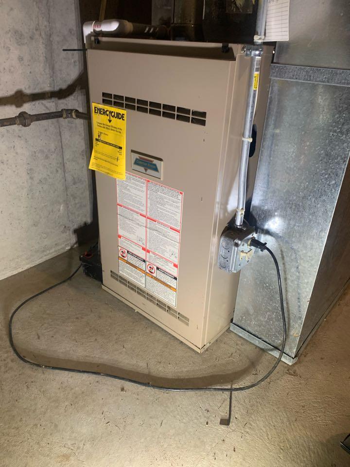 Sutton, MA - Preventative maintenance on a Coleman gas furnace