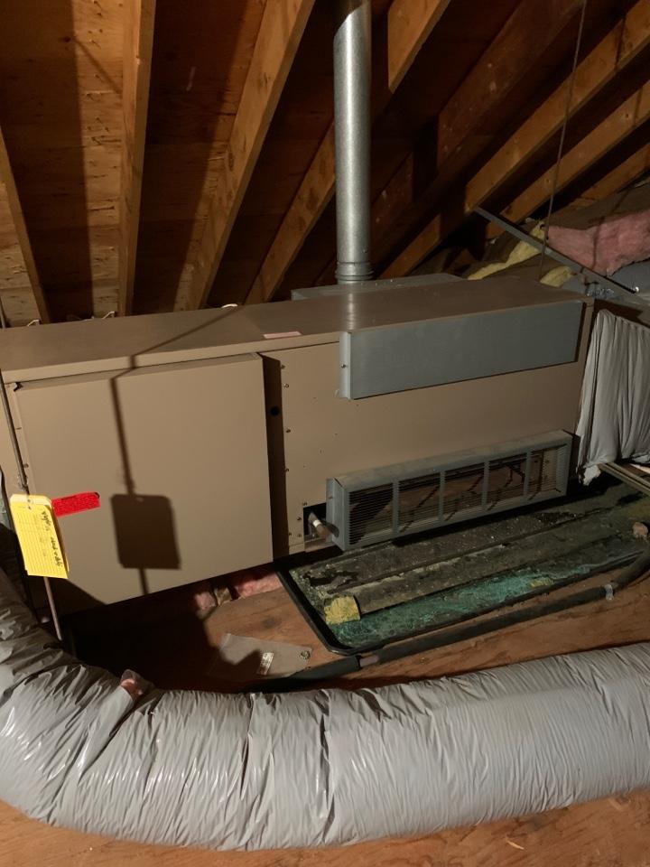Marlborough, MA - Performed preventative maintenance procedures on magic chef nat gas furnace
