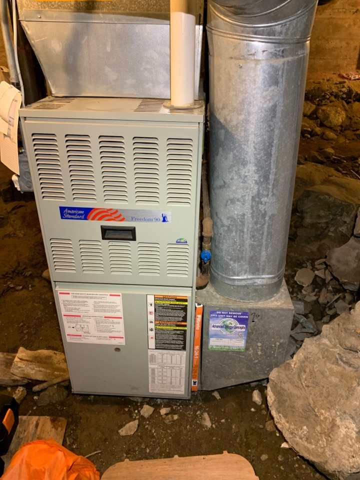 Millbury, MA - Performed preventative maintenance procedures on American standard nat gas furnace