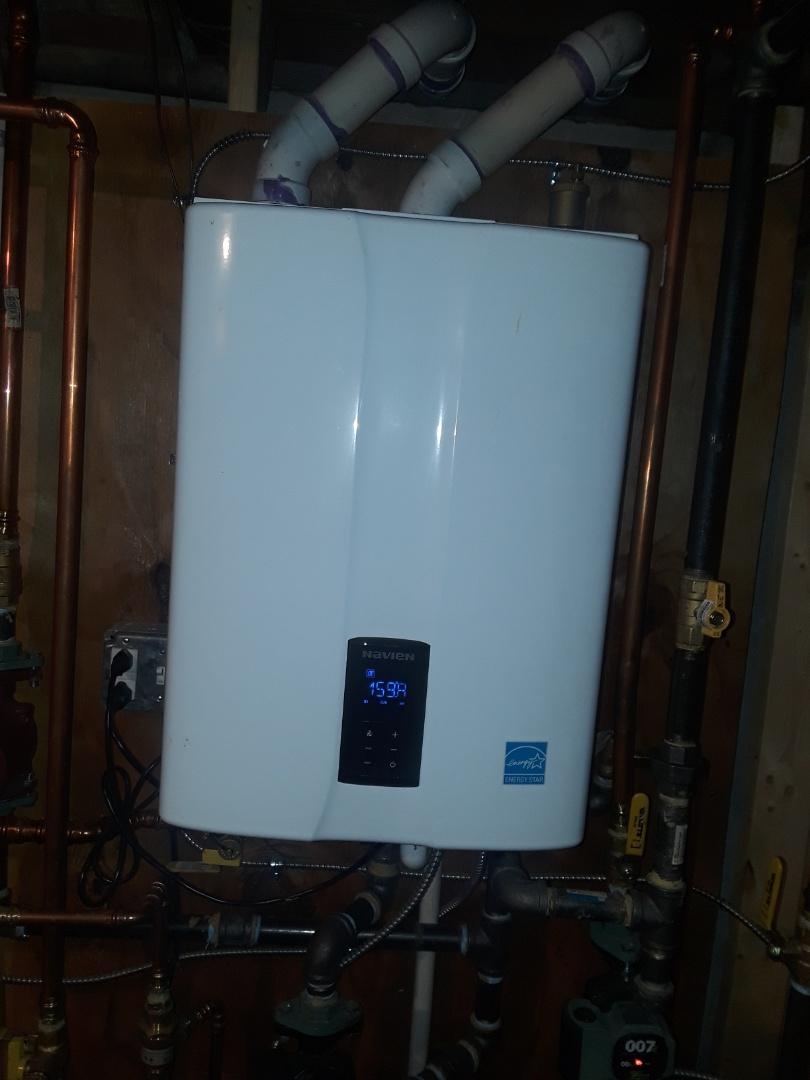 Fitchburg, MA - Repair on a Navien gas boiler
