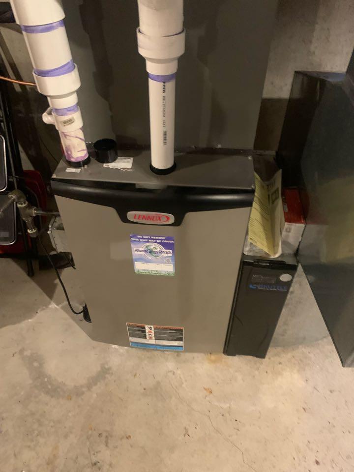 Grafton, MA - Service on a Lennox gas furnace