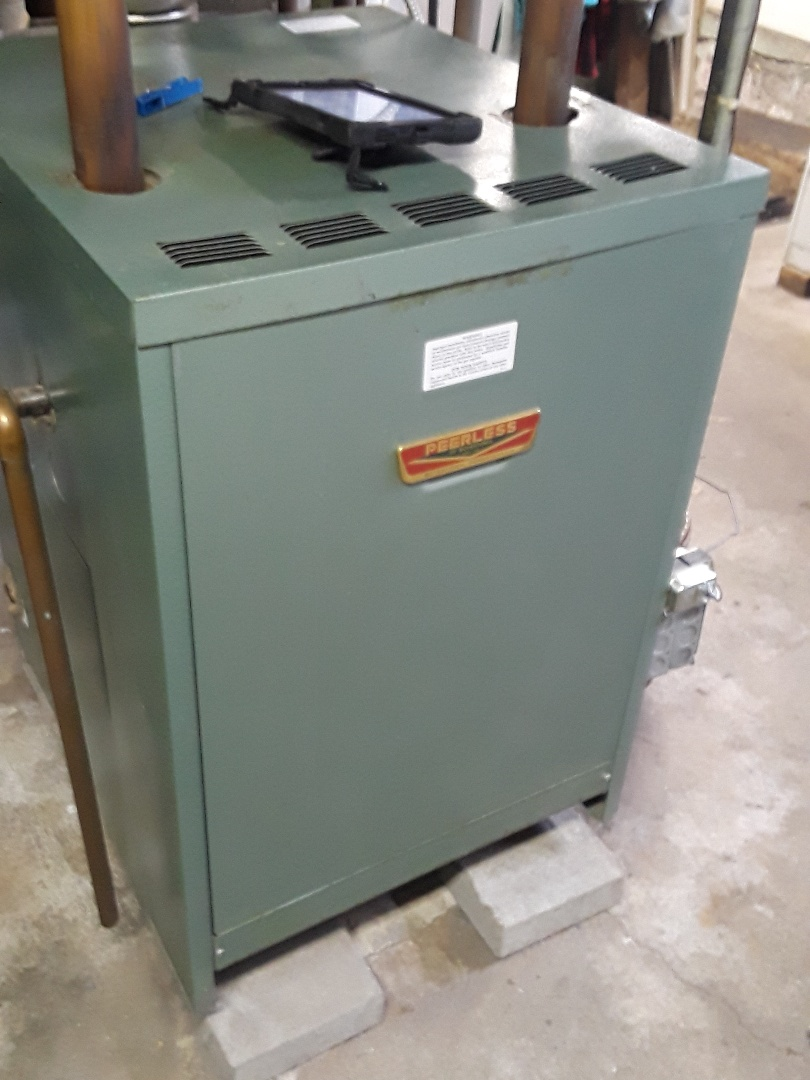 West Boylston, MA - Clean and check Peerless gas steam boiler