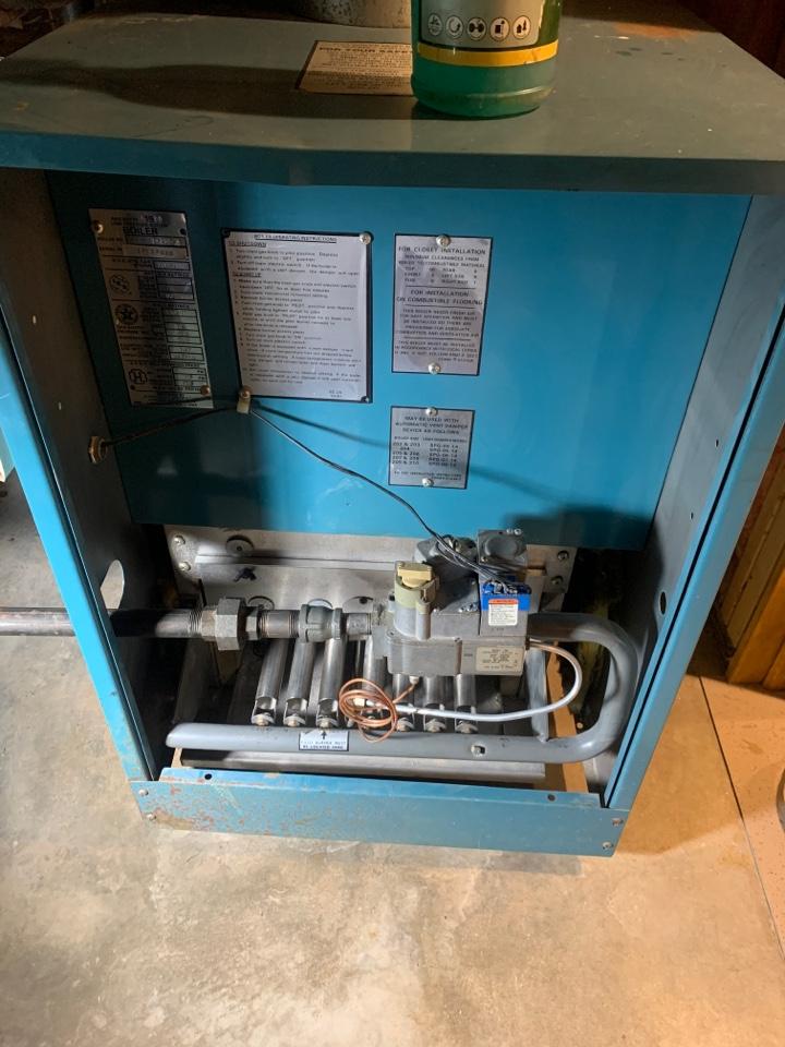 Grafton, MA - Preventative maintenance on a Burnham gas boiler