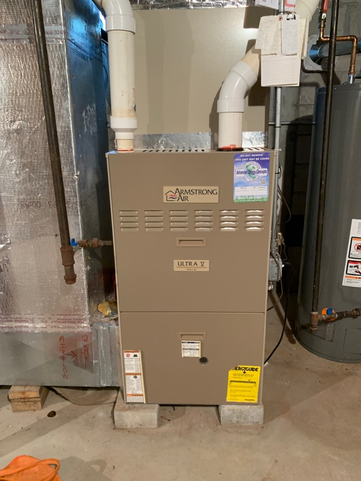 Northborough, MA - Performed preventative maintenance procedures on Armstrong nat gas furnace and air conditioning system