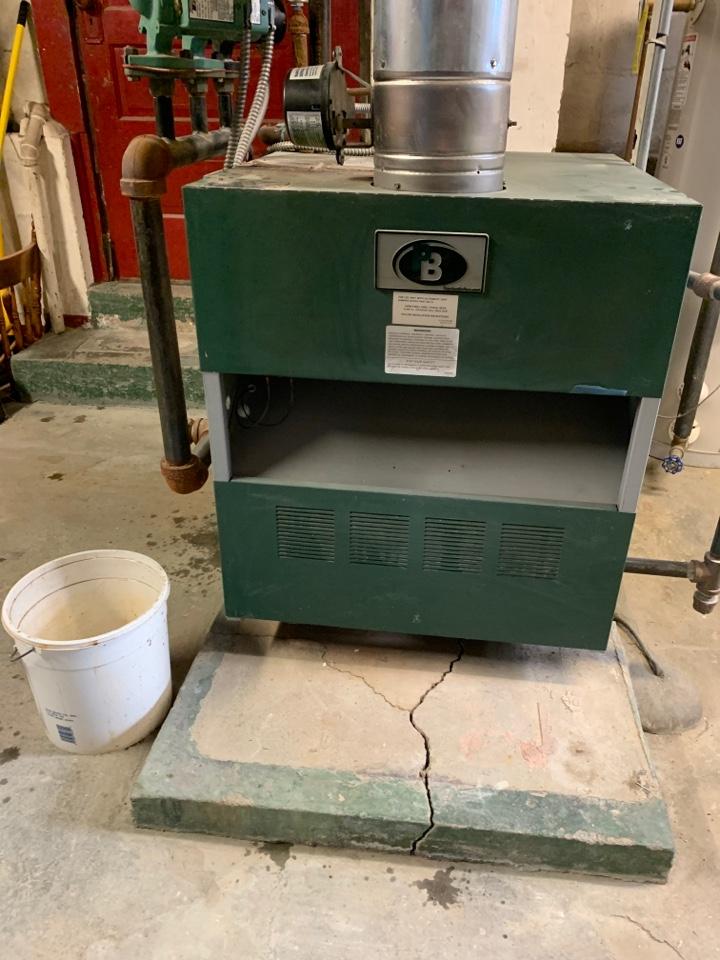 Auburn, MA - Service on a peerless gas boiler
