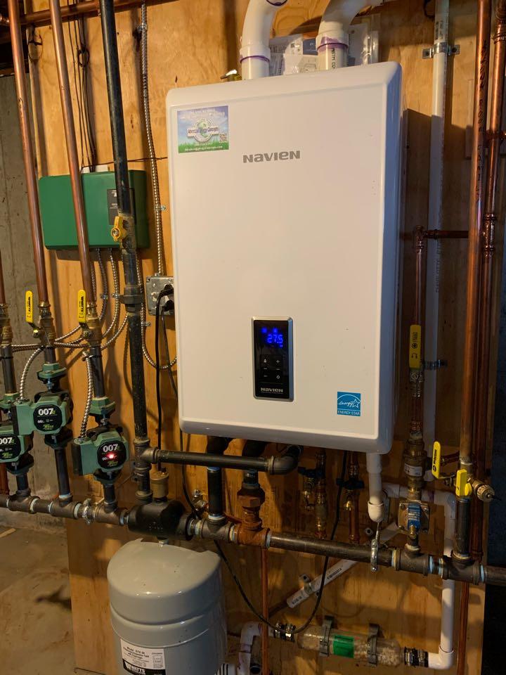 Southborough, MA - Performed preventative maintenance procedures on navien nat gas combo boiler