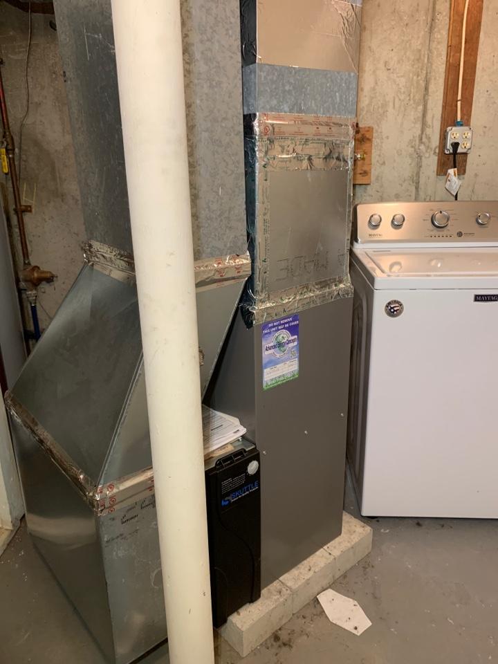 Westborough, MA - Performed preventative maintenance procedures on Lennox nat gas furnace