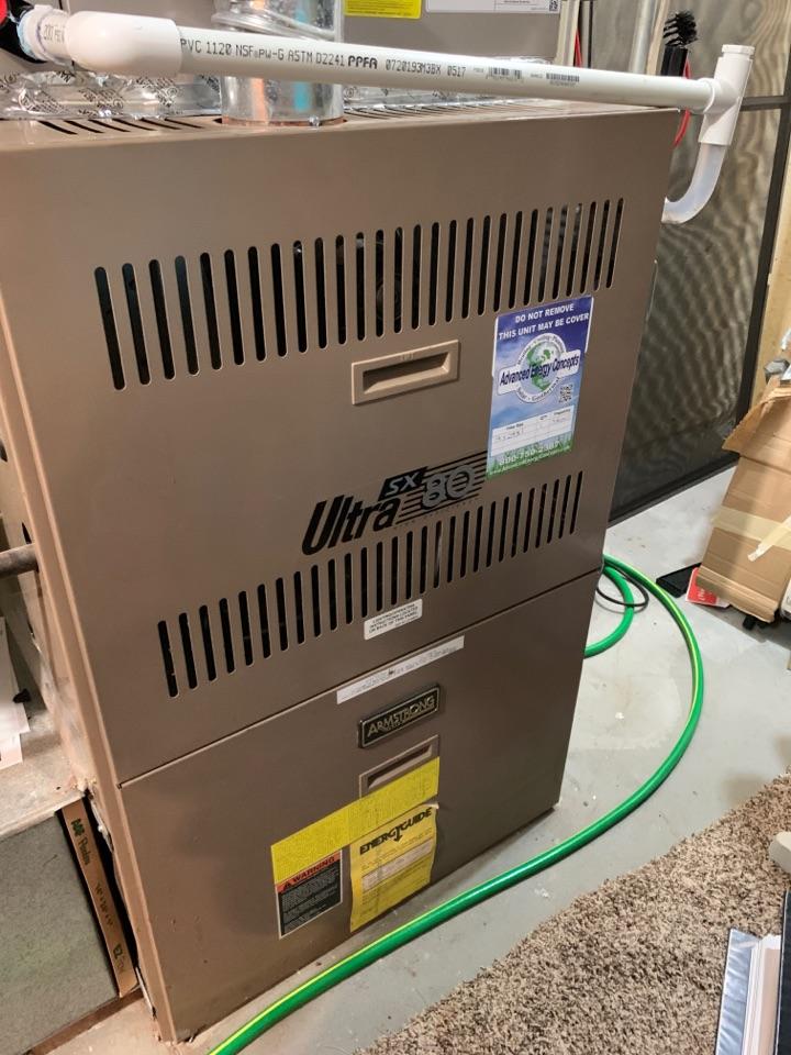 Shrewsbury, MA - Performed preventative maintenance procedures on Armstrong nat gas furnace