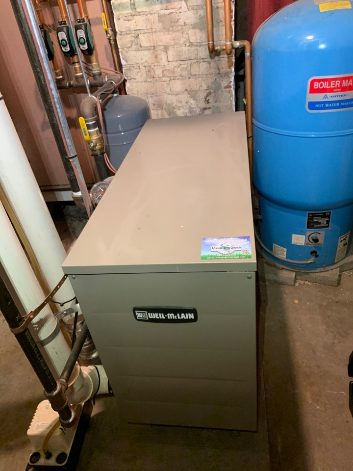 Worcester, MA - Performed preventative maintenance procedures on Weil McLain nat gas boiler