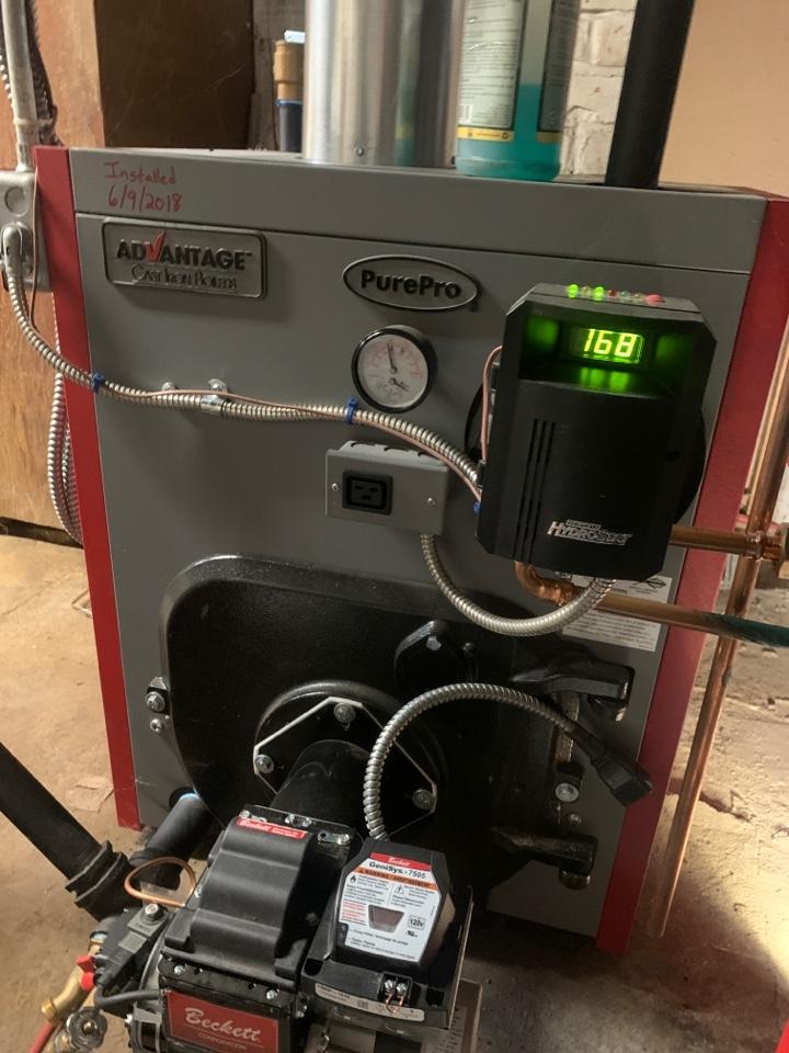 Oxford, MA - Preventative maintenance on a PurePro oil boiler