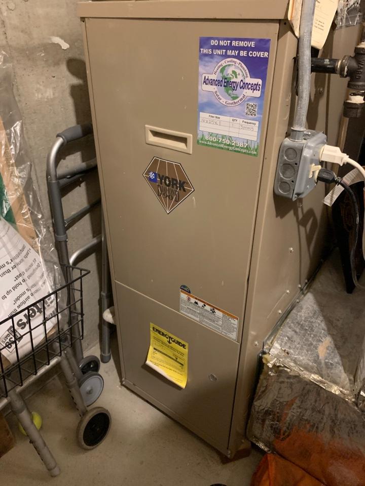 Shrewsbury, MA - Performed preventative maintenance procedures on York nat gas furnace