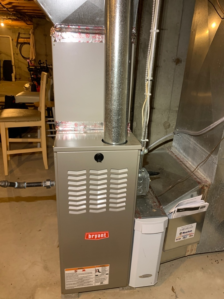 Westborough, MA - Performed preventative maintenance procedures on Bryant nat gas furnace and air conditioning system
