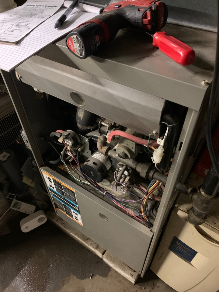 Worcester, MA - Cleaning and filter maintenance on Lennox high efficiency gas furnace