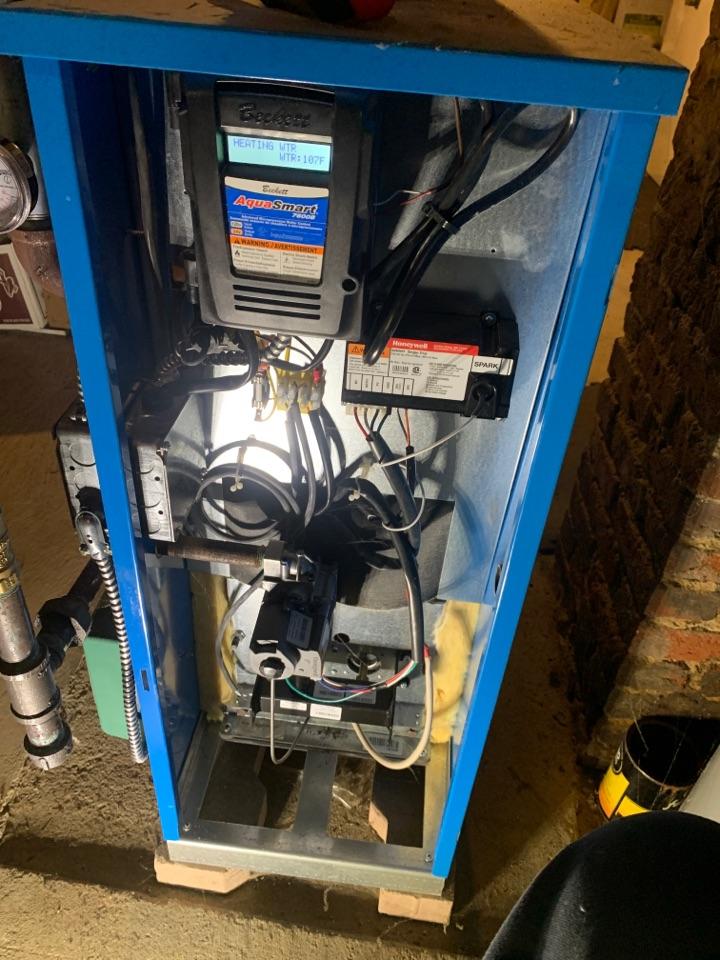 Auburn, MA - Service on a Buderus gas boiler