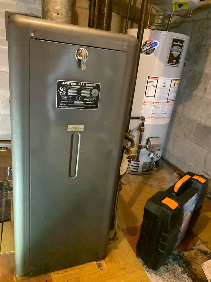 Worcester, MA - Service on a Janitrol gas water boiler