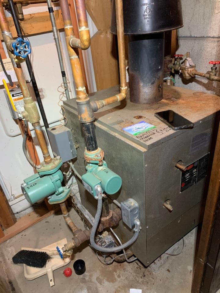 Worcester, MA - Performed preventative maintenance procedures on Utica nat gas boiler