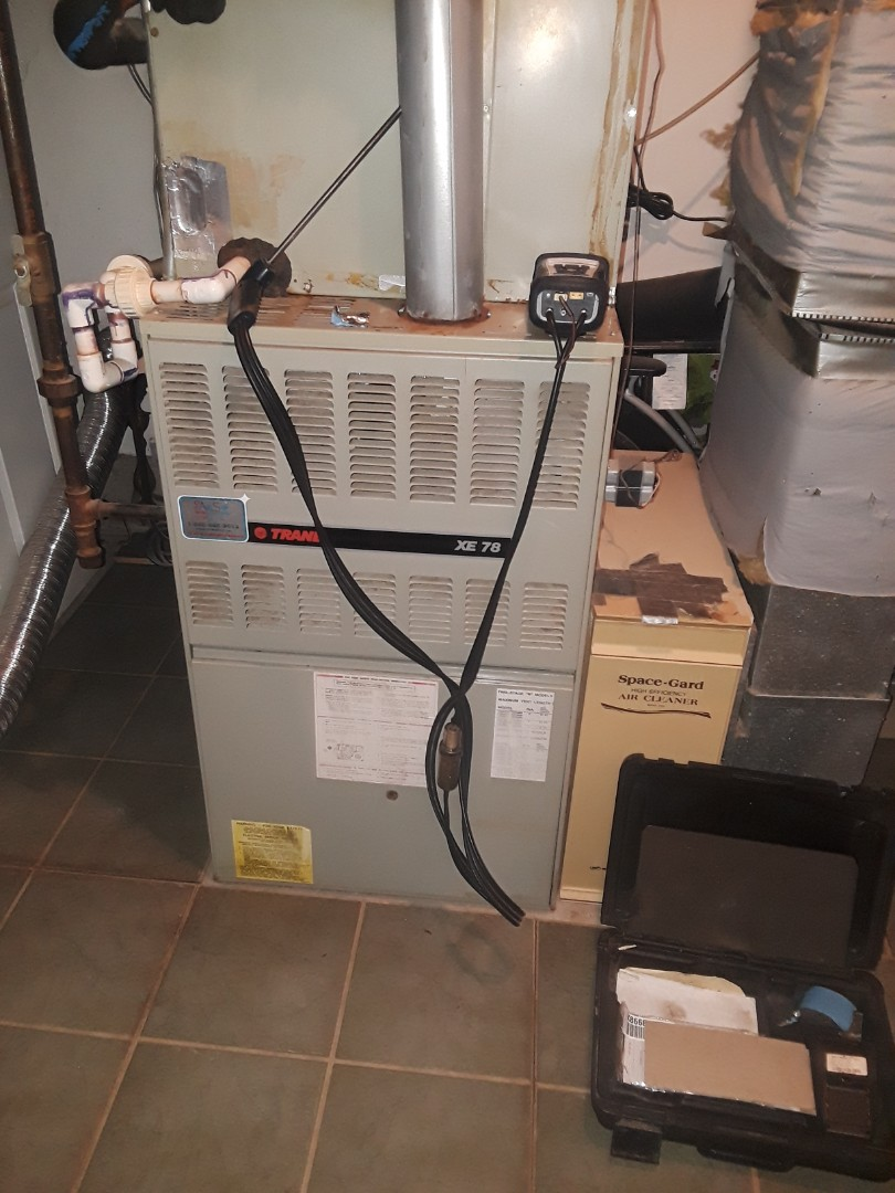 Shrewsbury, MA - Clean and check Trane gas heating unit