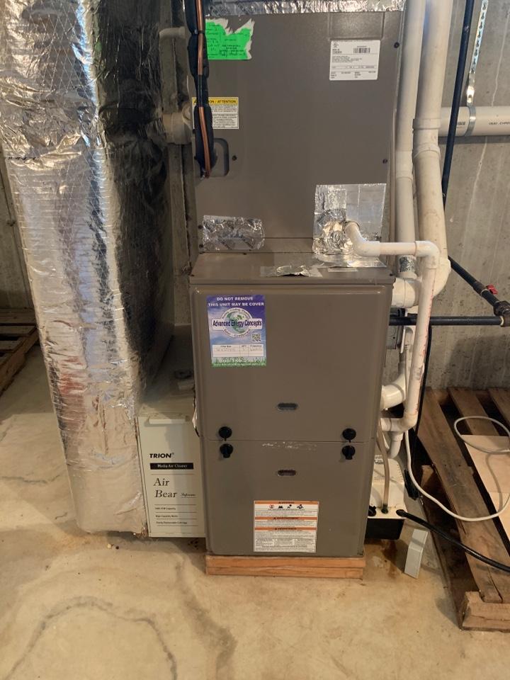 Worcester, MA - Performed preventative maintenance procedures on York nat gas furnace