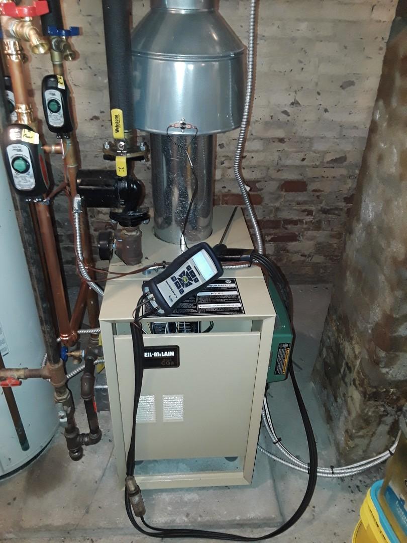 Hudson, MA - Clean and check Weil McLain gas boiler
