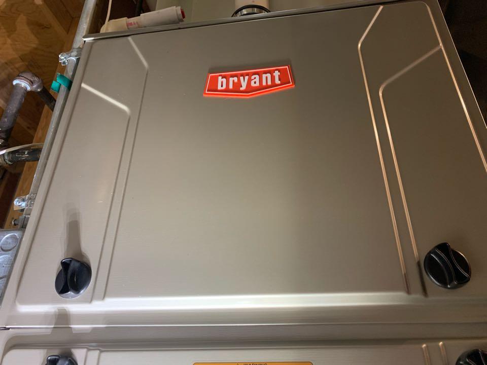 Shrewsbury, MA - Service on a Bryant gas furnace