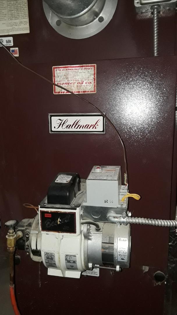 West Boylston, MA - Clean and check Hallmark oil heating unit
