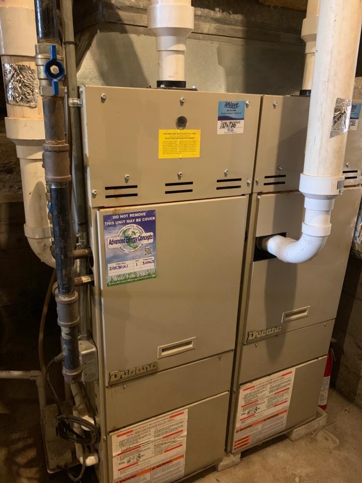 Westborough, MA - Performed preventative maintenance procedures on ducane nat gas furnace