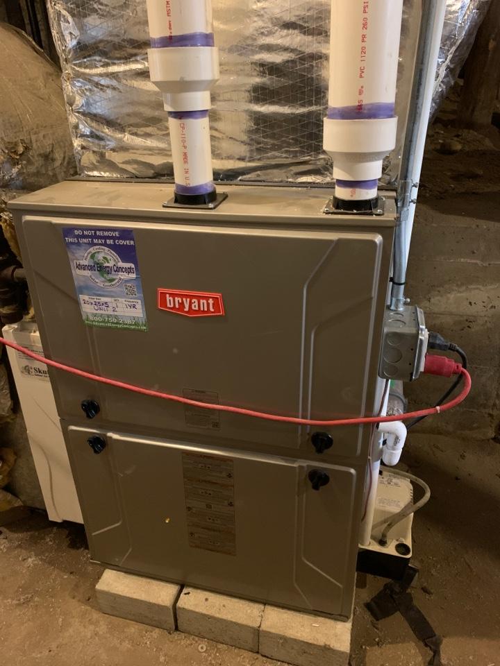 Westborough, MA - Performed preventative maintenance procedures on Bryant nat gas furnace