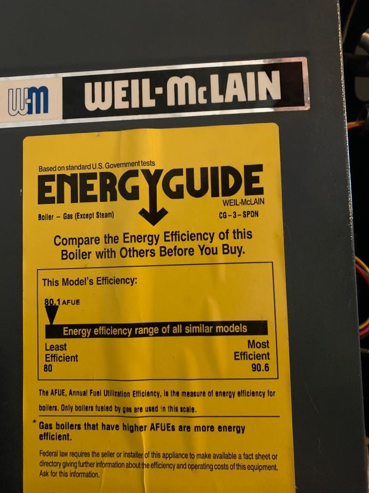 Worcester, MA - Preventative maintenance on a Weil McClain gas boiler