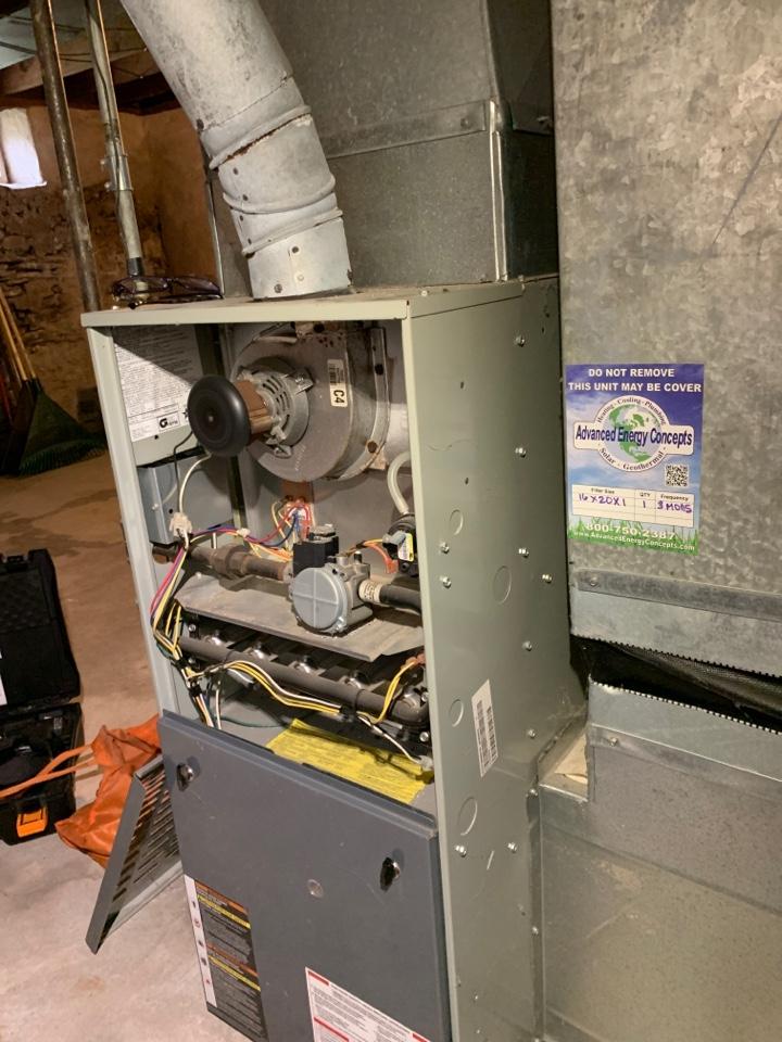 Performed preventative maintenance procedures on American standard nat gas furnace